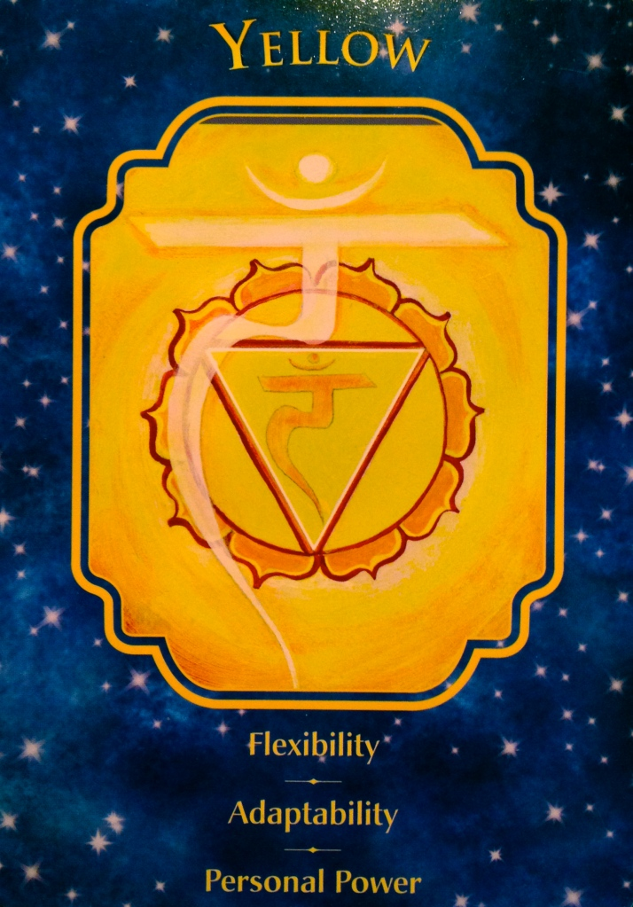 Yellow, from the Angel Dreams Oracle Card deck, by Doreen Virtue, Ph.D and Melissa Virtue.