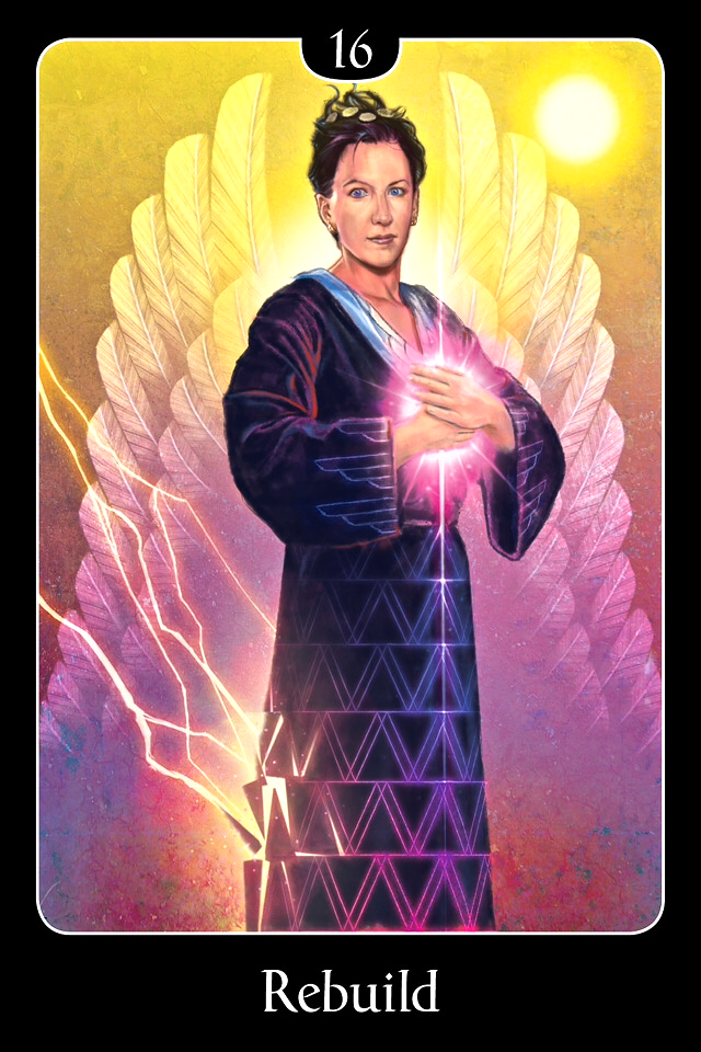 Rebuild, from the Psychic Tarot For The Heart Tarot Card deck, by John Holland