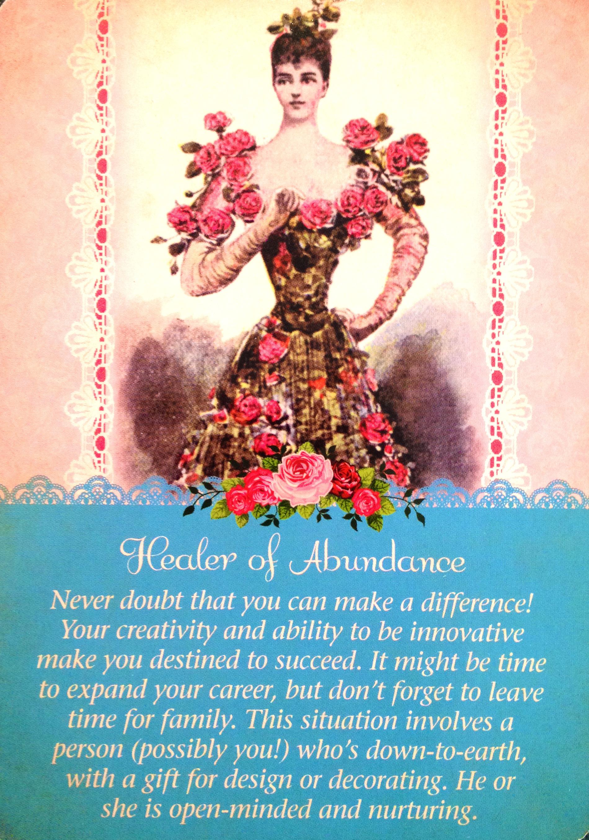Healer Of Abundance, From The Guardian Angel Tarot Card Deck, By Doreen  Virtue,