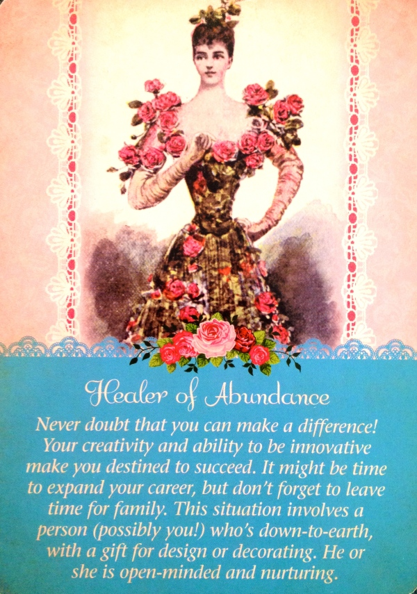 Healer Of Abundance, from the Guardian Angel Tarot Card Deck, by Doreen Virtue, Ph.D and Radleigh Valentine