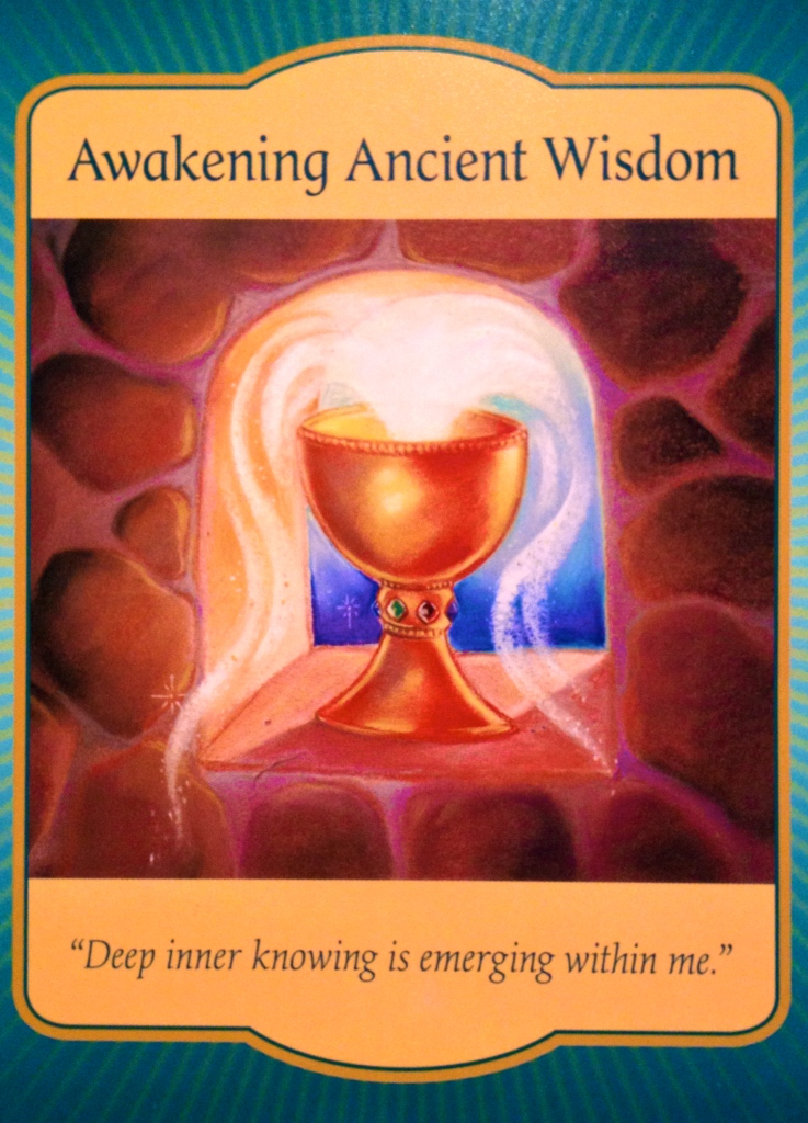 Awakening Ancient Wisdom, from the Gateway Oracle Card deck, by Denise Linn