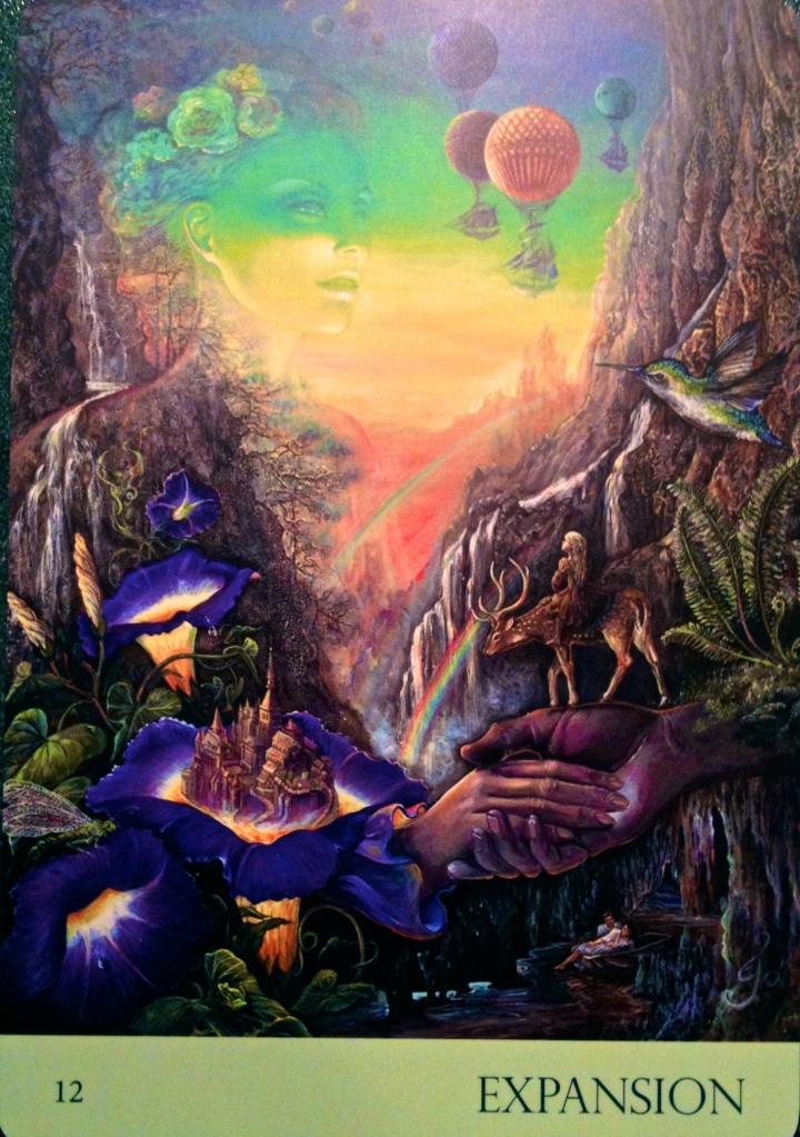 Expansion, from the Nature's Whispers Oracle Card deck, by Angela Hartfield and Josephine Wall