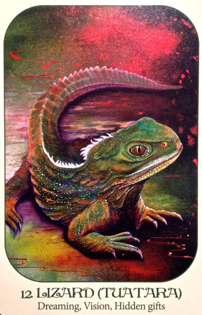 Lizard ~ Tuatara, from the Animal Voices Oracle Card deck, by Chip Richards