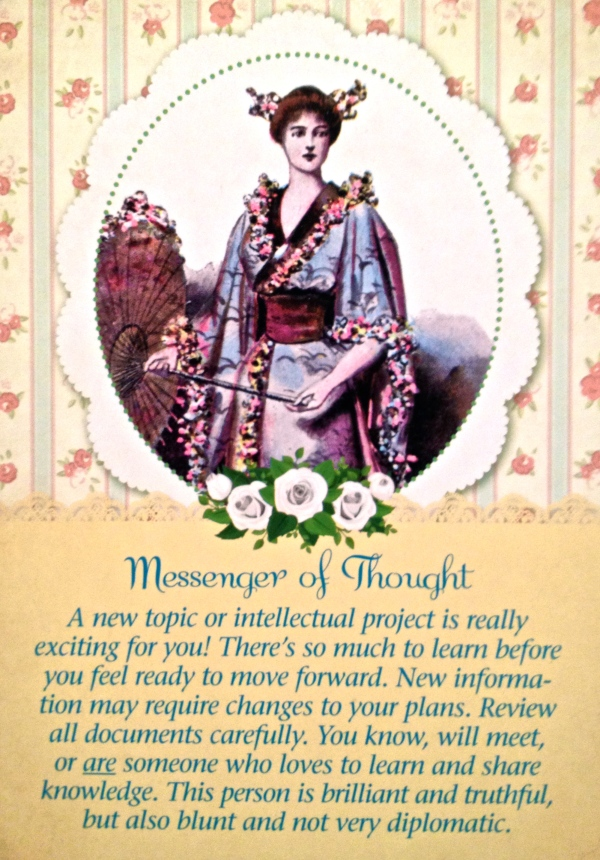Messenger Of Thought, from the Guardian Angel Tarot Card deck, by Doreen Virtue Ph.D and Radleigh ValentineValentine