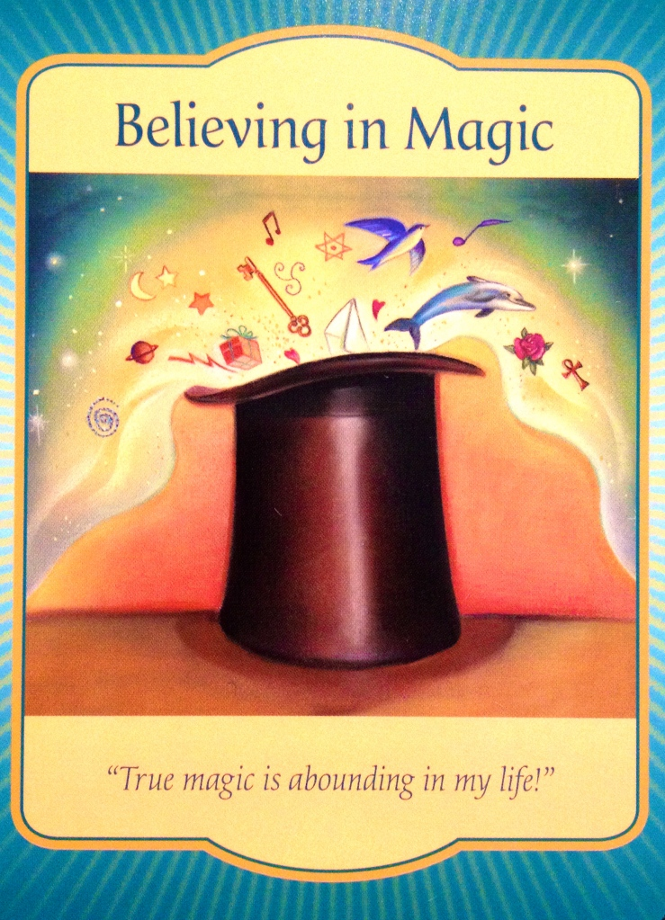 Believing In Magic, from the Gateway Oracle Card deck, by Denise Linn