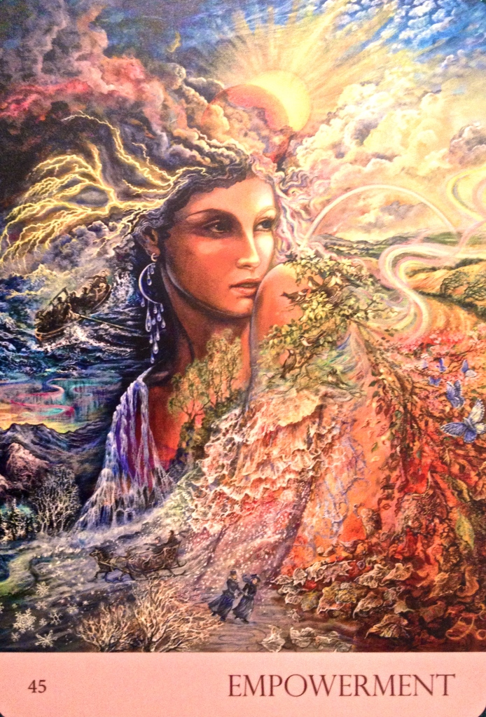 Empowerment, from the Nature's Whispers Oracle Card deck, by Angela Hartfield and Josephine Wall