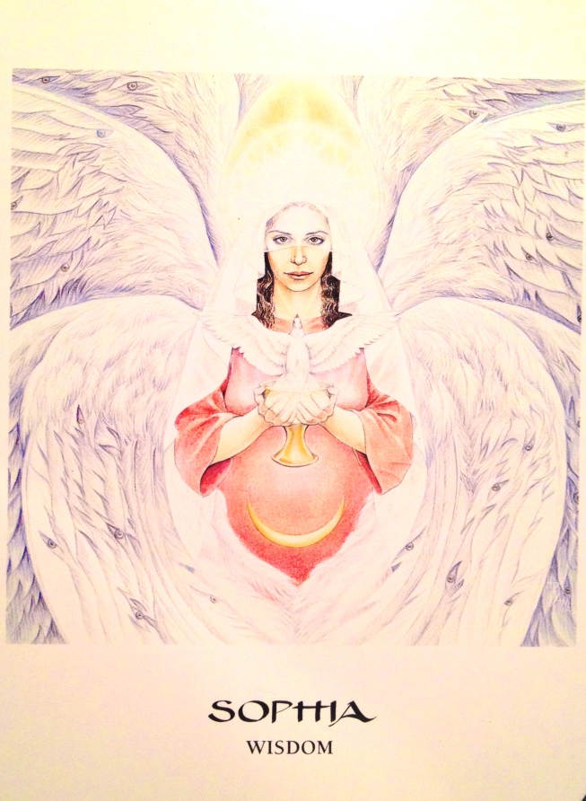 Sophia ~ Wisdom, from the Goddess Oracle card deck, by Amy Sophia Marashinsky and Hrana Jantoby