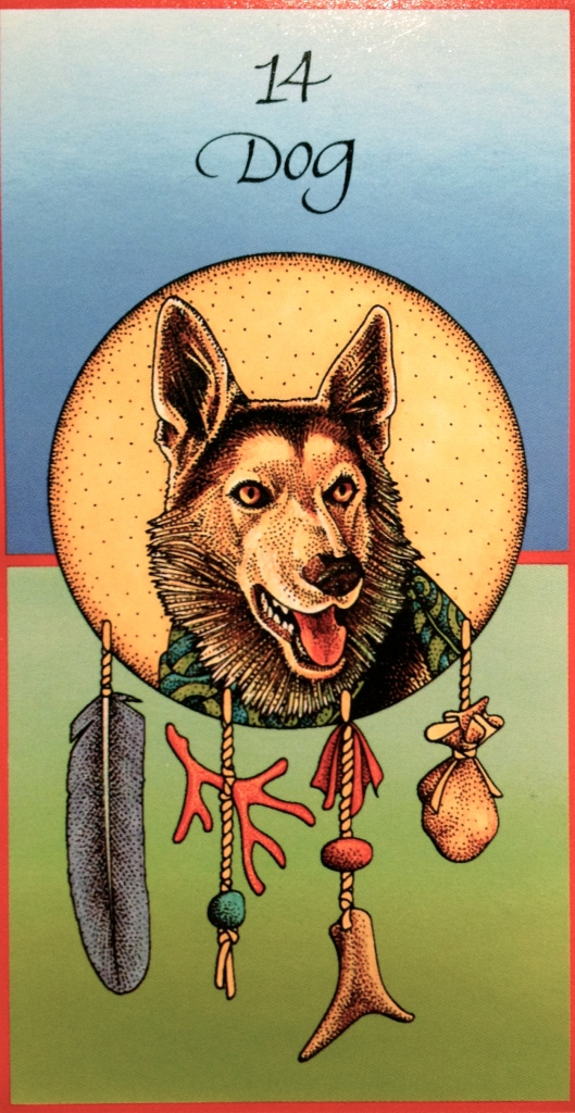 Dog ~ Loyalty, from the Medicine Cards Oracle Card deck, by Jamie Sams and David Carson