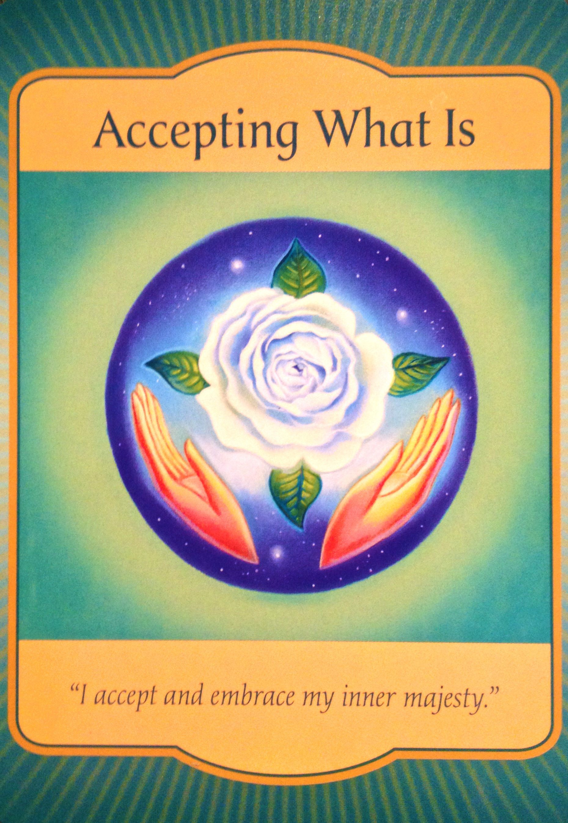 Oracle Card Accept Heaven S Help: Accepting What Is