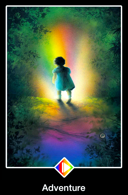 Adventure, from the Osho Zen Tarot Card deck, by Osho