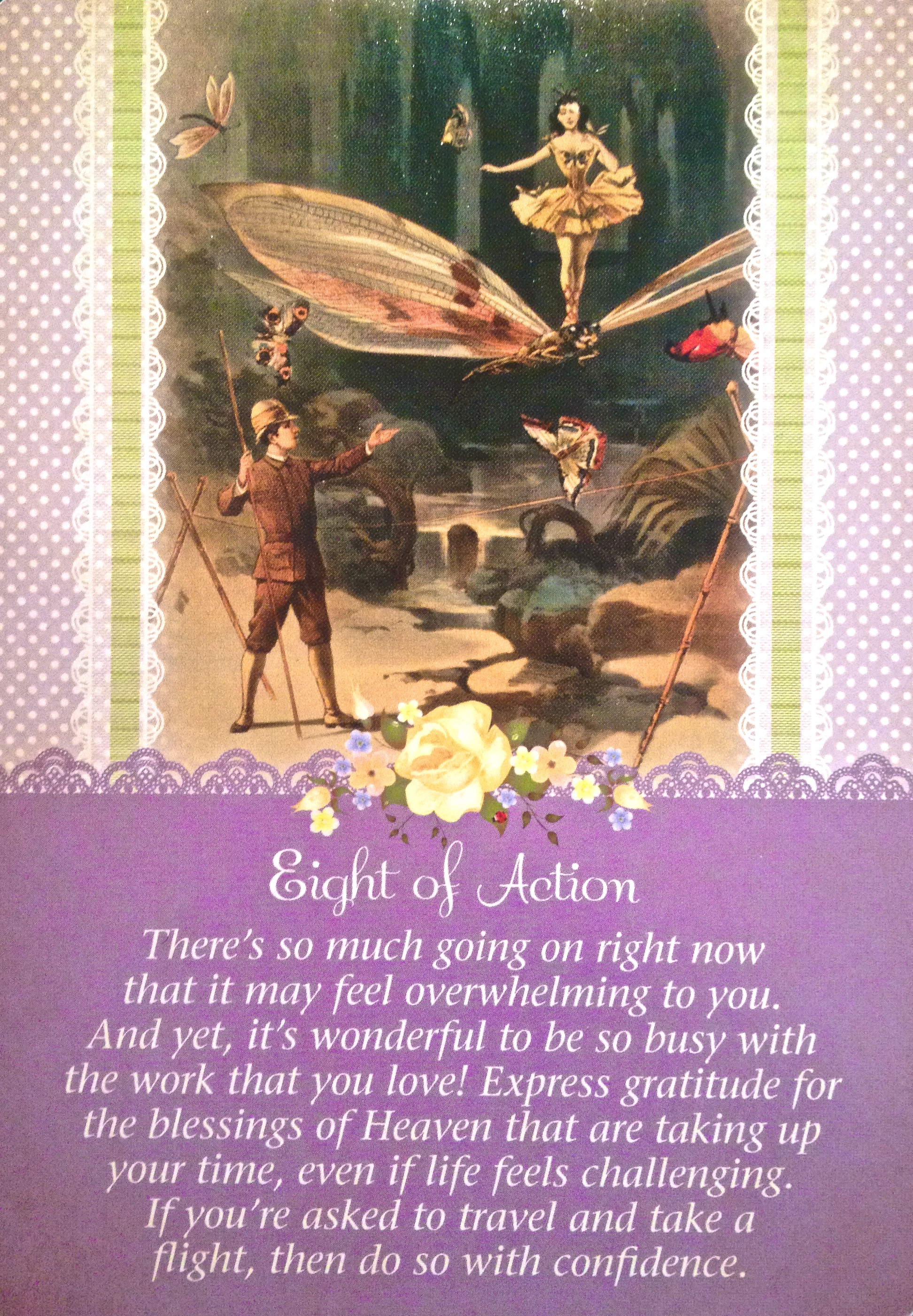 Eight Of Action, From The Guardian Angel Tarot Card Deck, By Doreen Virtue  Ph