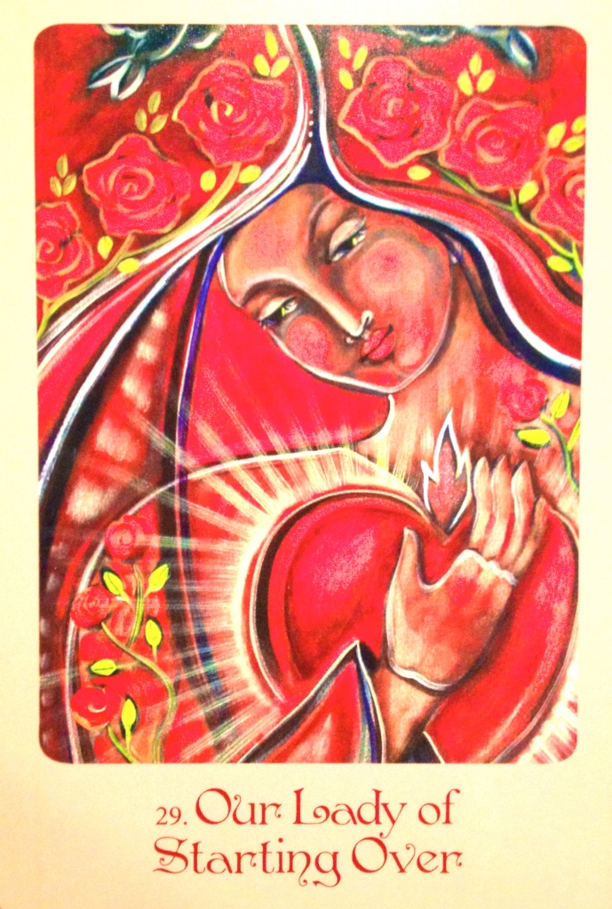Our Lady Of Starting Over, from the Mother Mary Oracle Card deck, by Alana Fairchild and Shiloh Sophia McCloud