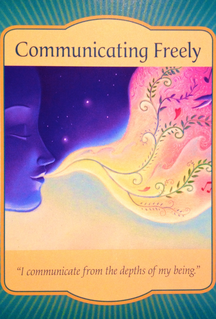 Communicating Freely, from the Gateway Oracle Card deck, by Denise Linn