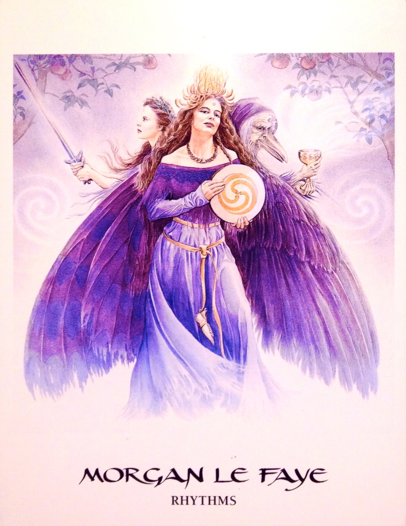Morgan Le Faye, from the Goddess Oracle Card deck, by Amy Sophia Marashinsky and Hrana Janto