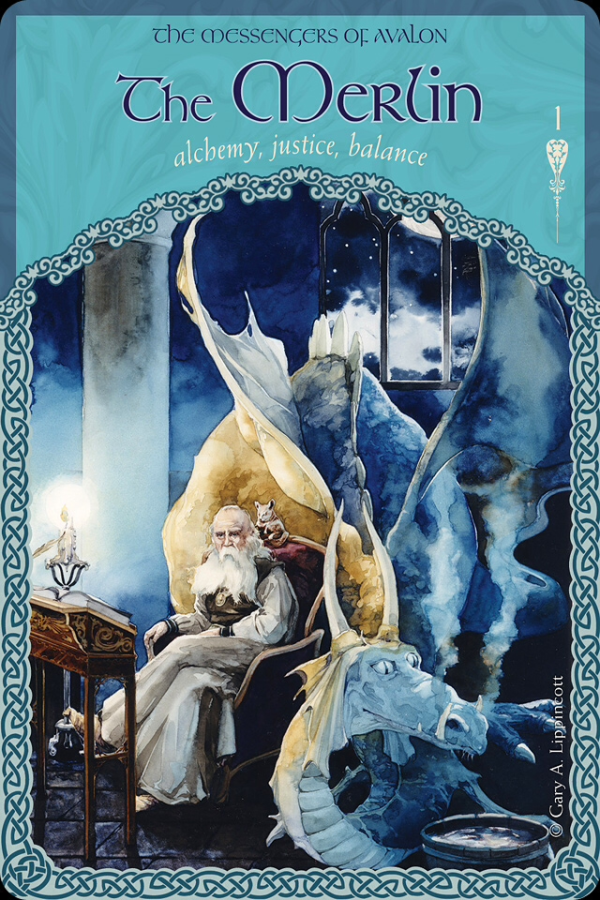 The Merlin, from the Wisdom Of Avalon Oracle Card deck, by Colette Baron-Reid