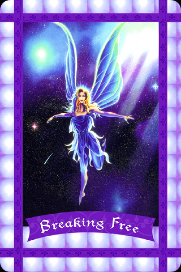 Breaking Free, from the Healing With The Fairies, Oracle Card deck by Doreen Virtue, Ph.D