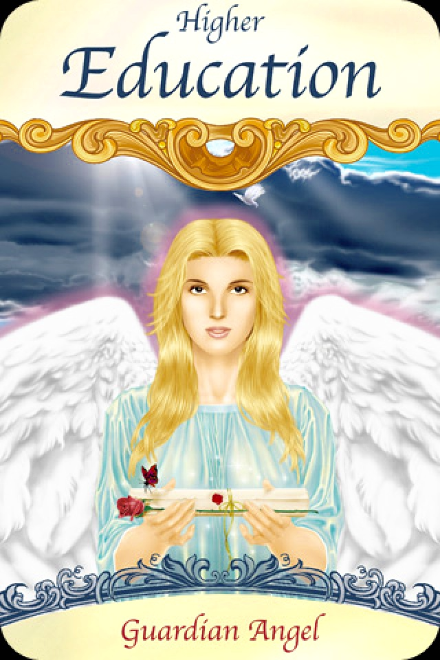 Higher Education, from the Saints And Angels Oracle Card deck, by Doreen Virtue, Ph.D