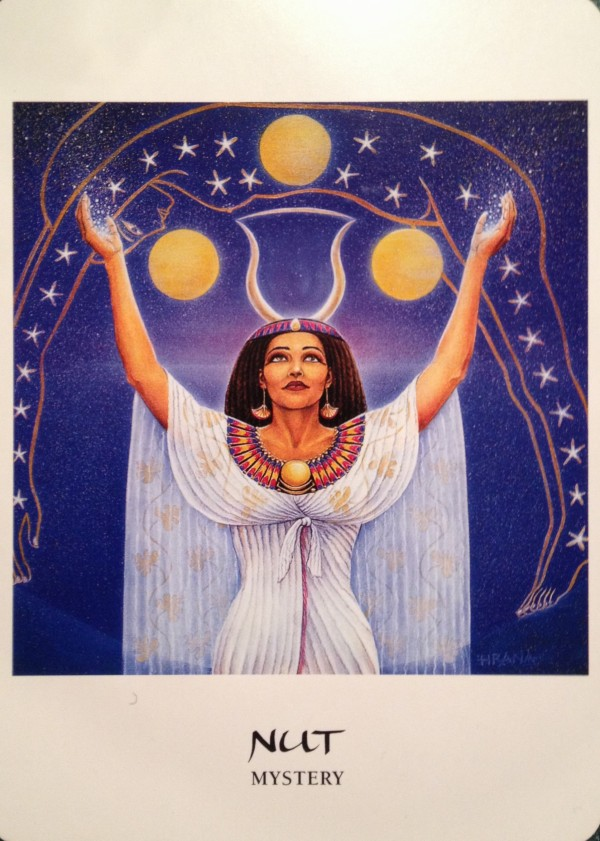 Nut ~ Mystery, from the Goddess Oracle Card deck, by Amy Sophia Marashinsky and Hrana Janto