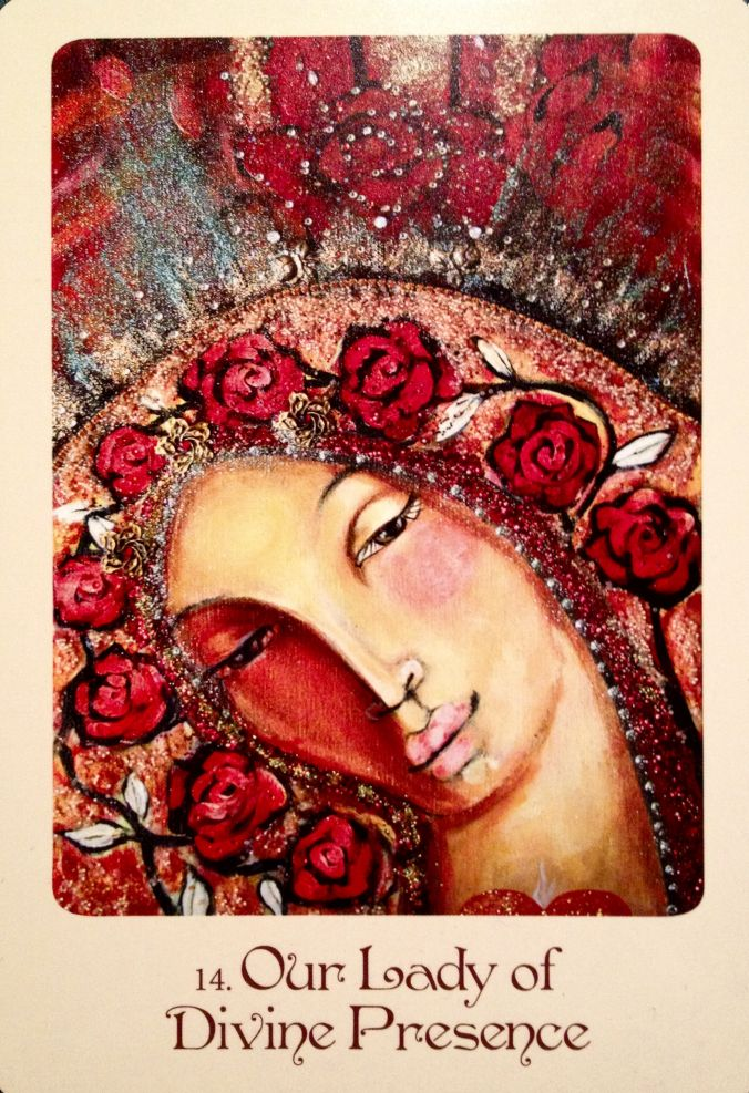 Our Lady Of Divine Presence, from the Mother Mary Oracle Card deck, by Alana Fairchild and Shiloh Sophia McCloud