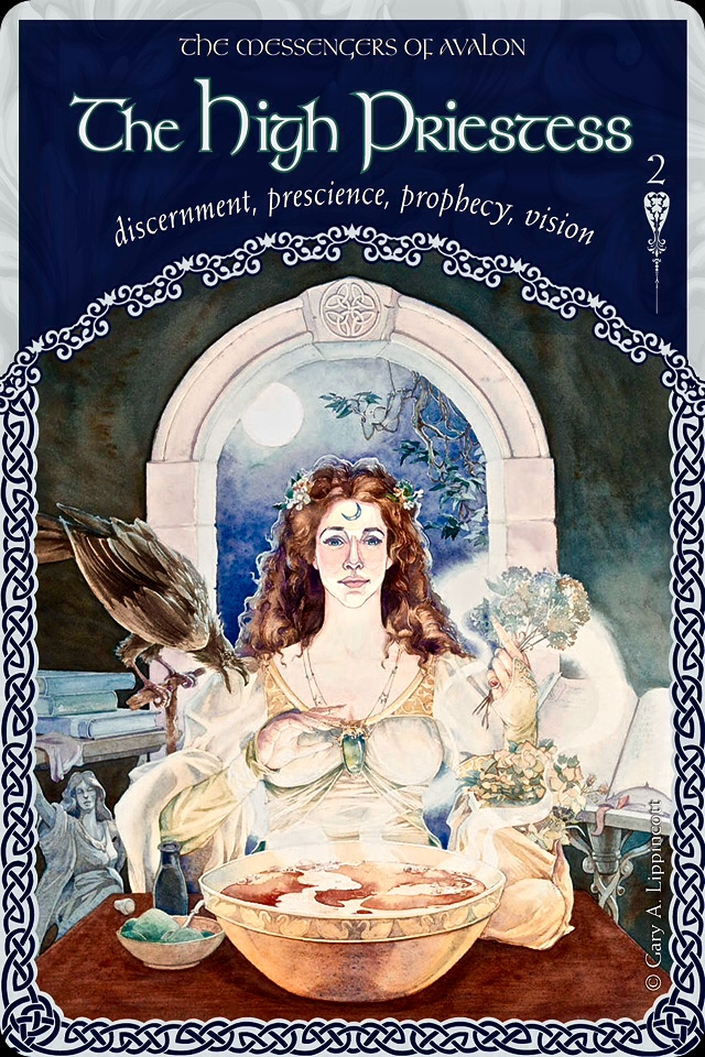 The High Priestess Of Avalon, from the Wisdom Of Avalon Oracle Card deck, by Colette Baron-Reid
