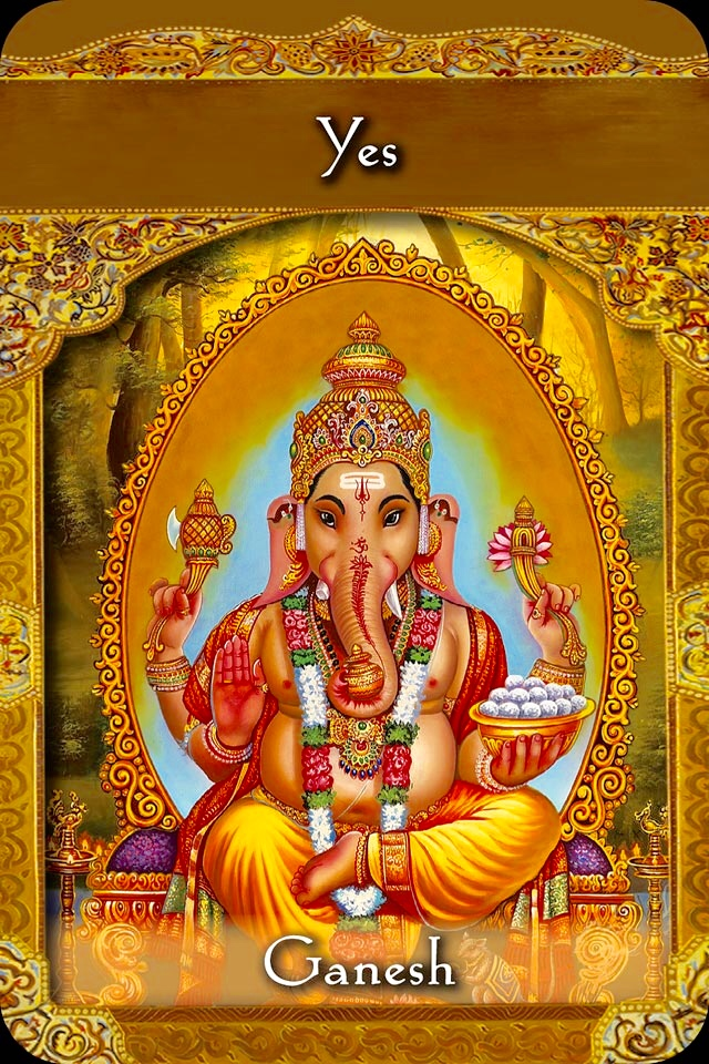 Ganesh ~ Yes, from the Ascended Masters Oracle Card deck, by Doreen Virtue, Ph.D