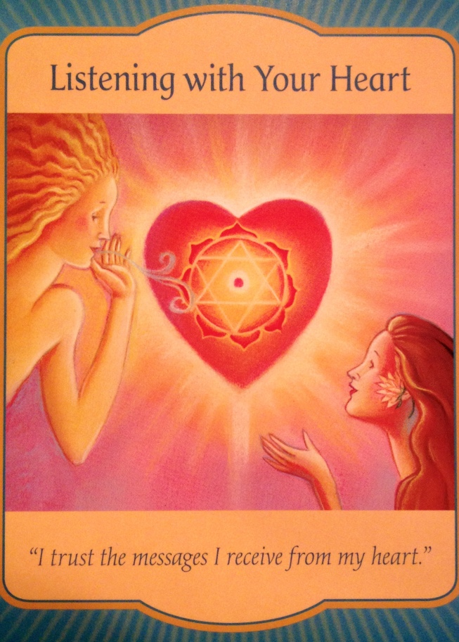 Listening To Your Heart, from the Gateway Oracle Card deck, by Denise Linn