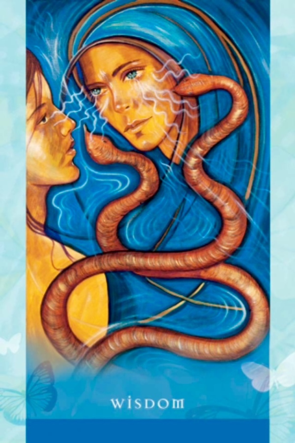 Wisdom ~ Old Soul, from the Universal Wisdom Oracle Card deck, by Toni Carmine Salerno