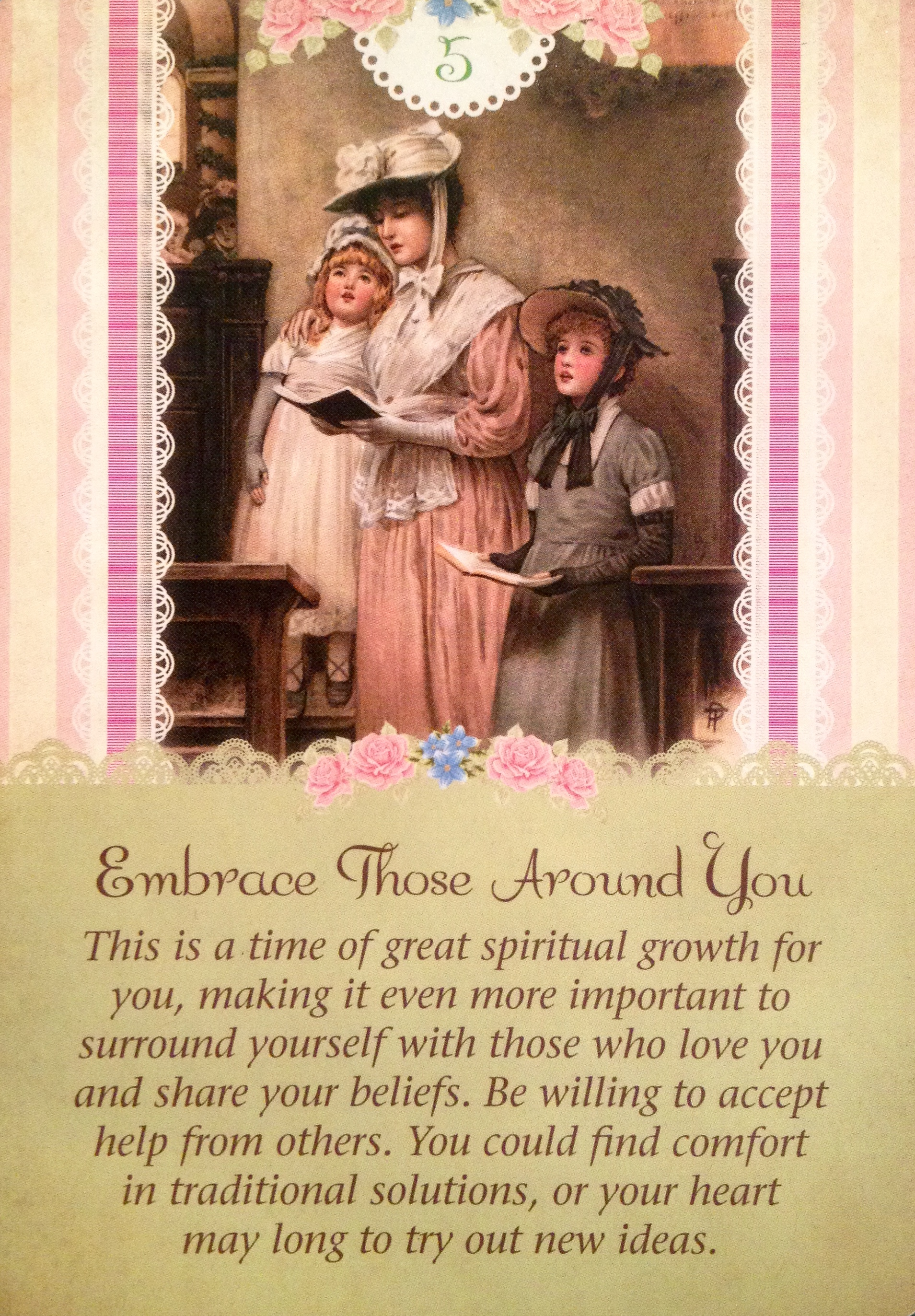 Embrace Those Around You, From The Guardian Angel Tarot Card Deck, By  Doreen Virtue