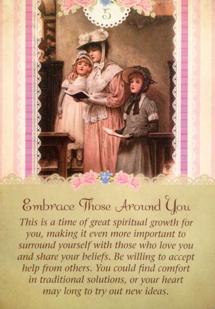 Embrace Those Around You, from the Guardian Angel Tarot Card deck, by Doreen Virtue Ph.D and Radleigh Valentine