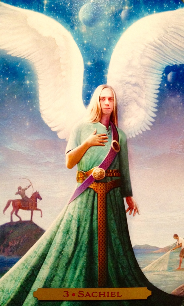 Archangel Sachiel ~ Good Fortune, from The Oracle Of The Angels, by Richard Webster
