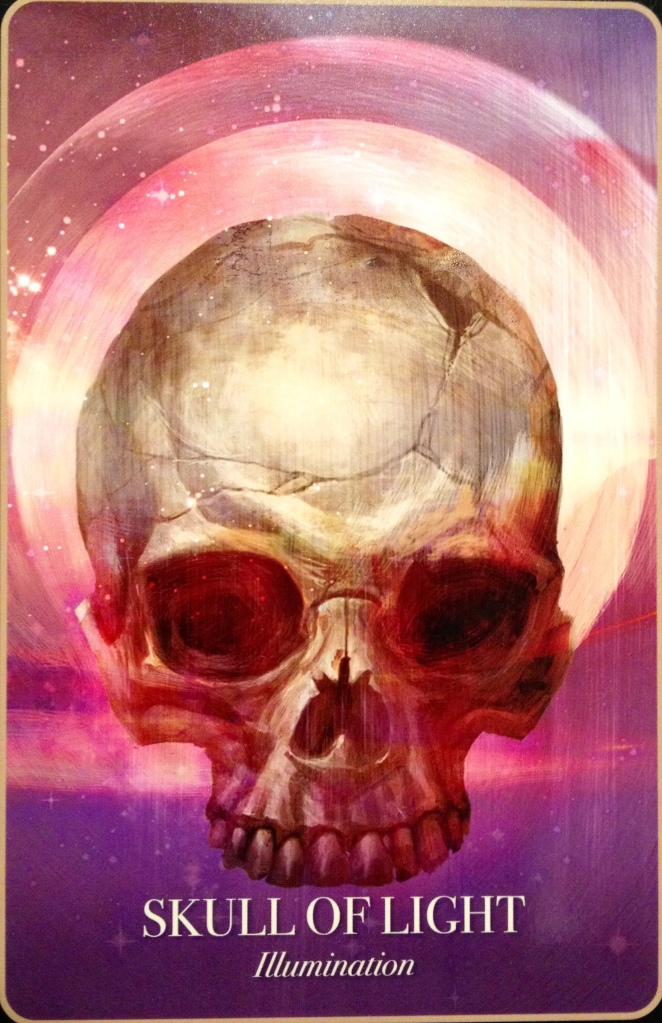 Skull Of Light ~ Illumination, from the Halloween Oracle card deck, by Stacey Demarco