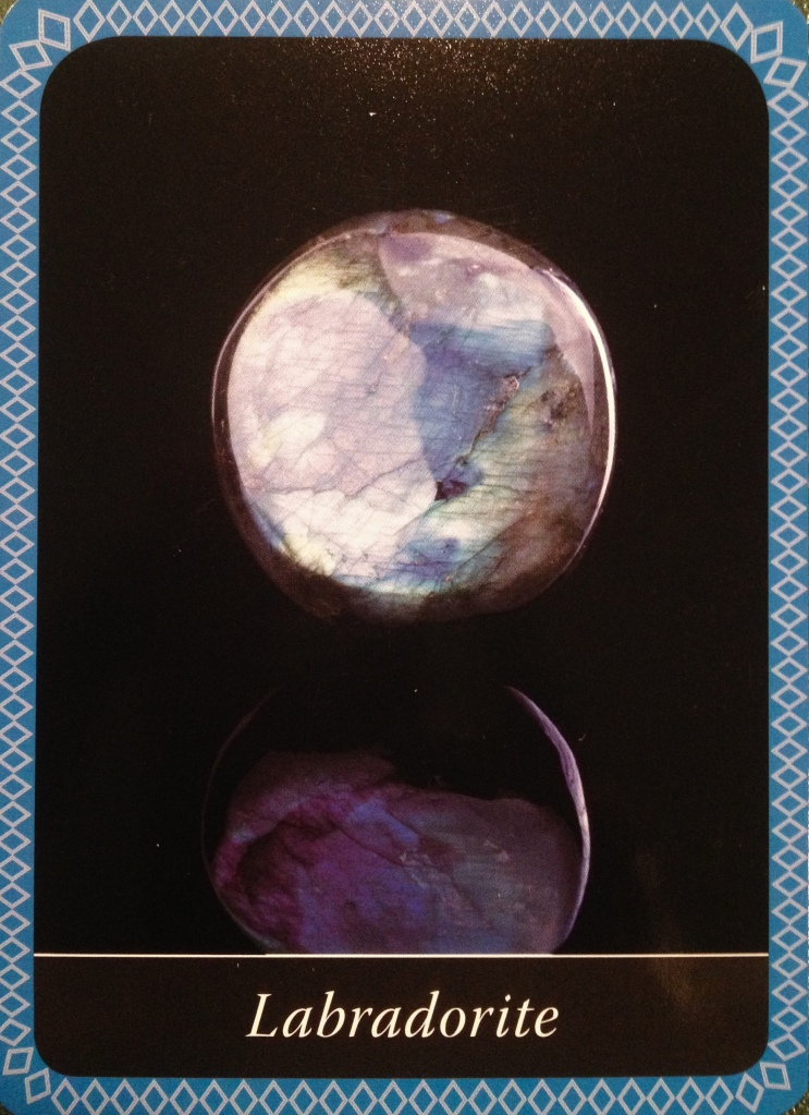 Labradorite ~ The Mind's Eye, from the Crystal Wisdom Oracle Card deck, by Judy Hall
