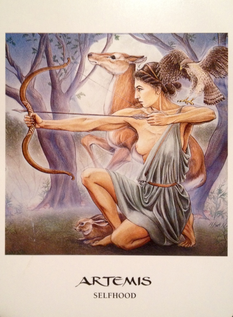 Artemis ~ Selfhood, from the Goddess Oracle, by Amy Sophia Marashinsky and Hrana Janto