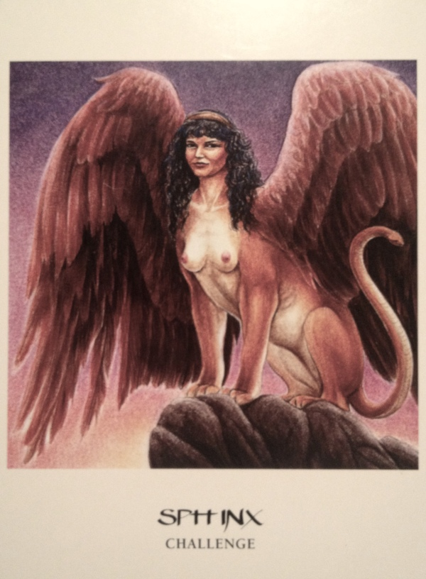Sphinx ~ Challenge, from the Goddess Oracle Cards, by Amy Sophia Marashinsky and Hrana Janto