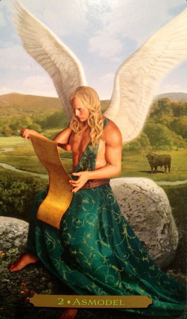 Angel Asmodel ~ Patience, from the Oracle Of The Angels by Richard Webster