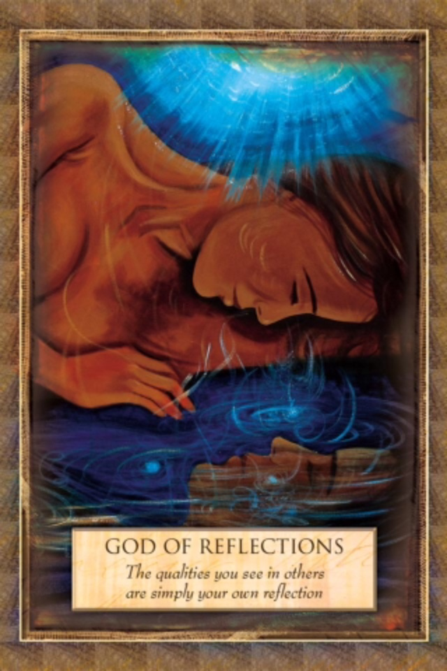God Of Reflection, from the Angels, Gods and Goddesses Oracle Card deck, by Toni Carmine Salerno