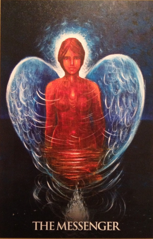 Mary Magdalene ~ The Messenger, from the Magdalene Oracle Card deck, by Toni Carmine Salerno