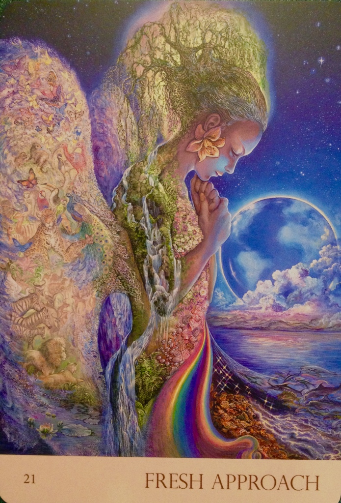 Fresh Approach, from the Nature's Whispers Oracle Card deck by Angela Hartfield and Josephine Wall