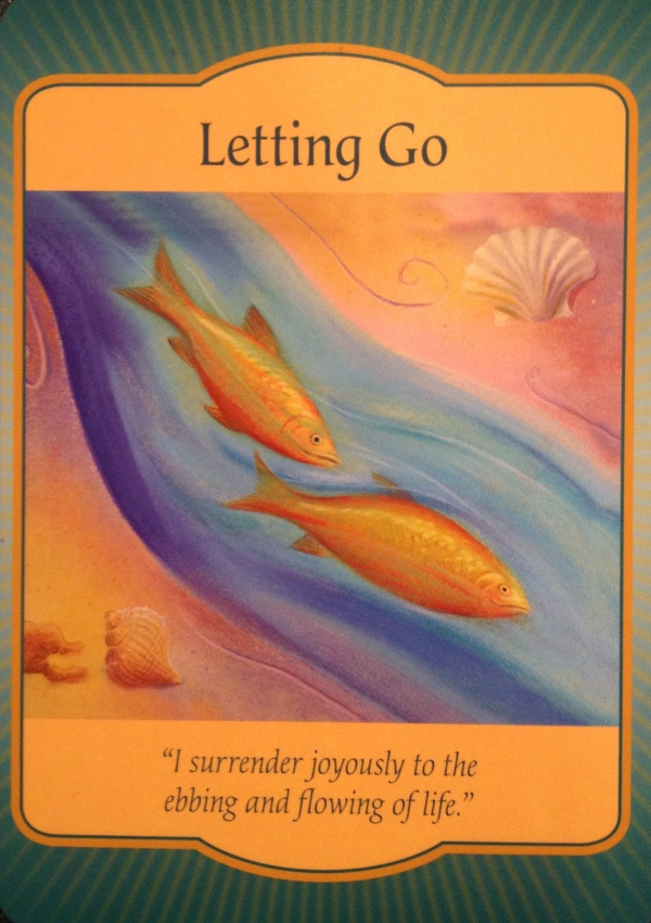 Letting Go, from the Gateway Oracle Card deck, by Denise Linn