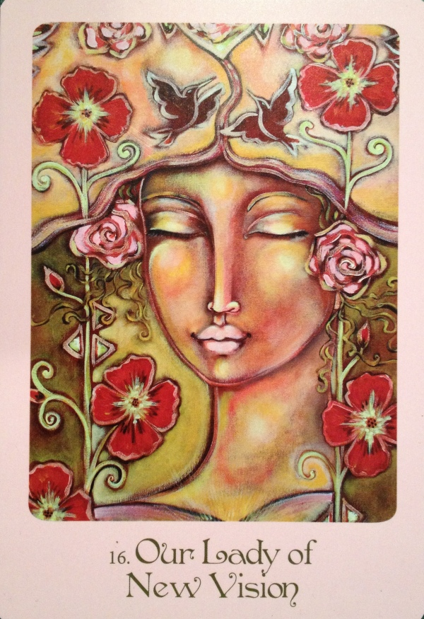 Our Lady Of New Vision, from the Mother Mary Oracle Card deck, by Alana Fairchild and Shiloh Sophia McCloud