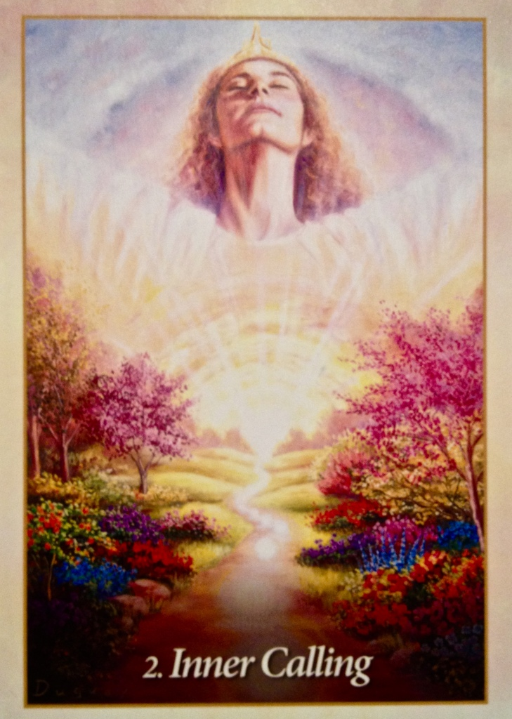 Inner Calling, from the Oracle Of The Angels Oracle Card deck, by Mario Duguay