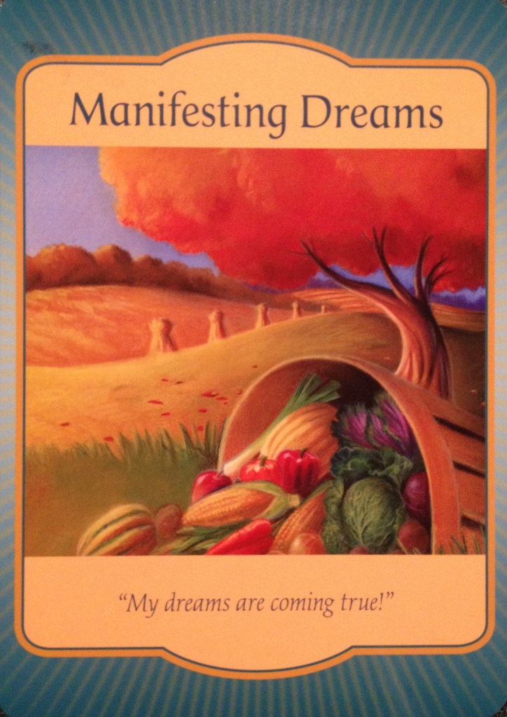 Manifesting Dreams, from the Gateway Oracle Card deck, by Denise Linn