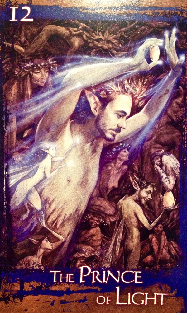 The Prince Of Light, from the Heart Of Faerie Oracle Card deck, by Brian and Wendy Froud