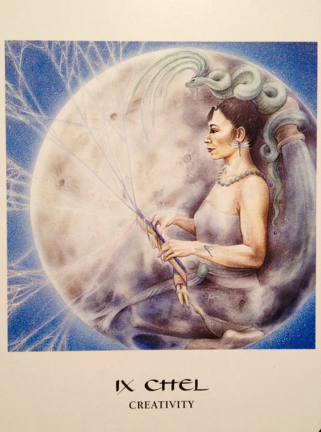 Ix Chel ~ Creativity, from the Goddess Oracle Card deck, by Amy Sophia Marashinsky and Hrana Janto