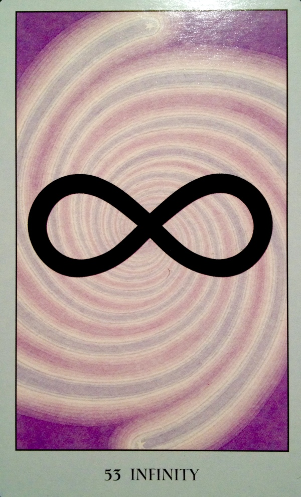 Infinity, from the Sacred Geometry Oracle Card deck, by Francene Hart