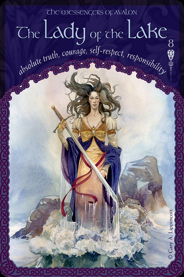 The Lady Of The Lake, from the Wisdom Of Avalon Oracle Card deck, by Colette Baron-Reid