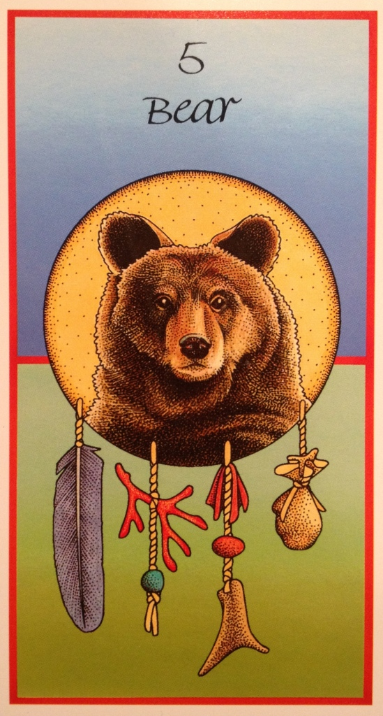 Bear ~ Introspection, from the Medicine Cards by Jamie Sams and David Carson