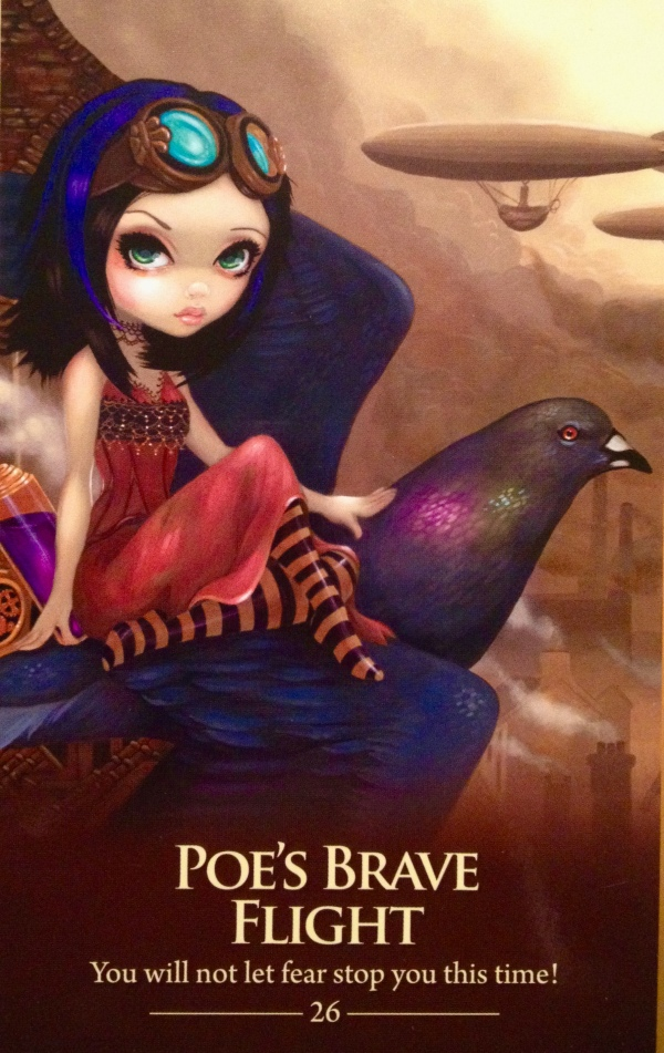 Poe's Brave Flight, from the Oracle Of The Shapeshifters, by Lucy Cavendish