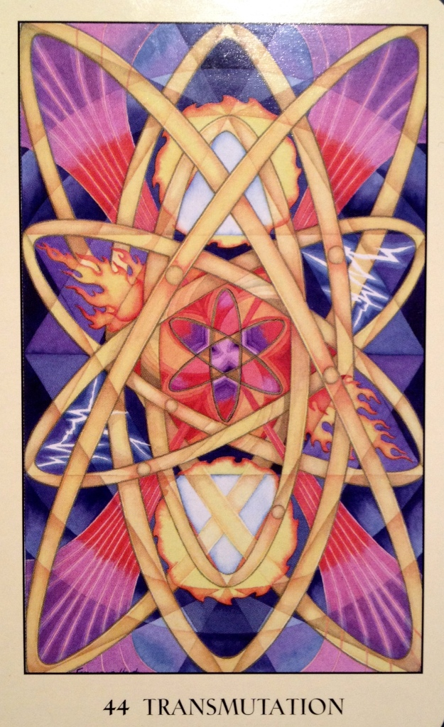 44 ~ Transmutation, from the Sacred Geometry Oracle Card deck, by Francene Hart