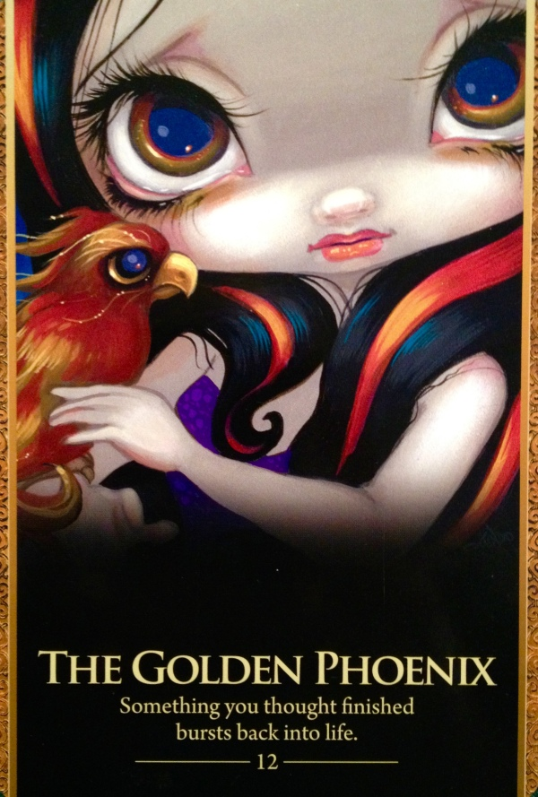 The Golden Phoenix, from the Oracle Of The Shapeshifters, by Lucy Cavendish